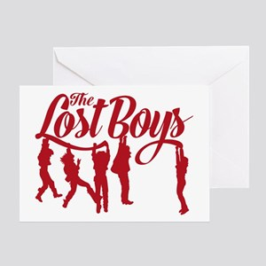 Lost Boys Hanging Off Bridge Greeting Cards