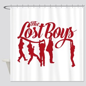 Lost Boys Hanging Off Bridge Shower Curtain