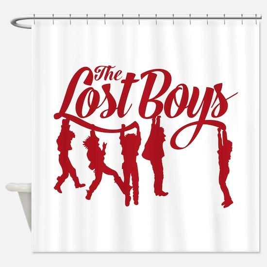 Lost Boys Hanging Off Bridge Shower Curtain