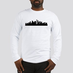 Seattle Cityscape Skyline Long Sleeve T-Shirt