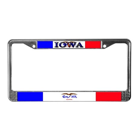Iowa State Flag License Plate Frame