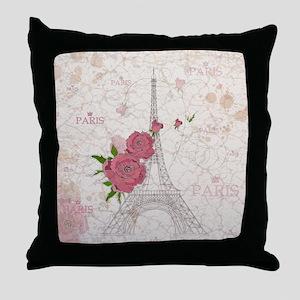 Vintage Paris Throw Pillow
