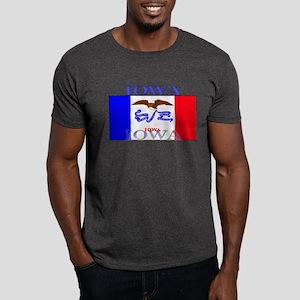 Iowa State Flag Dark T-Shirt