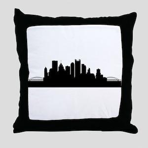 Pittsburgh Cityscape Skyline Throw Pillow