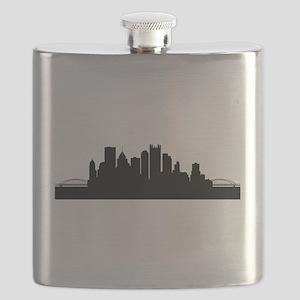 Pittsburgh Cityscape Skyline Flask