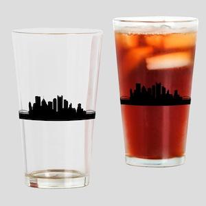 Pittsburgh Cityscape Skyline Drinking Glass