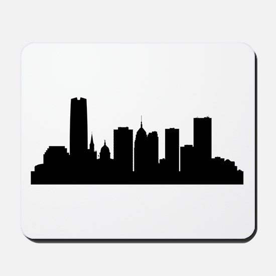 Oklahoma City Cityscape Skyline Mousepad