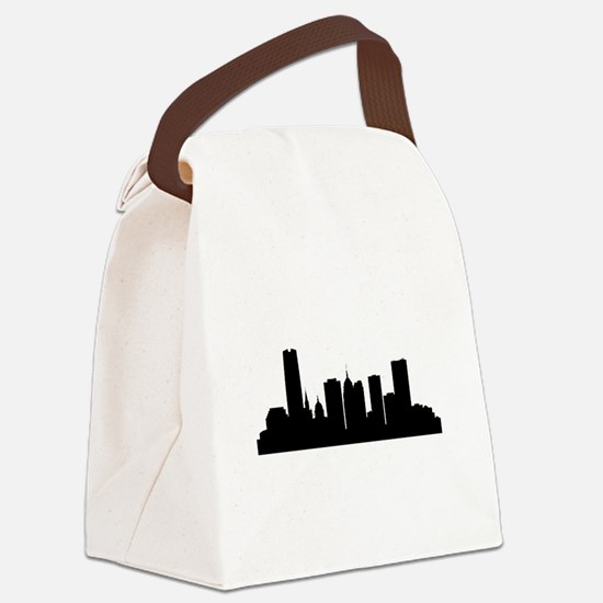 Oklahoma City Cityscape Skyline Canvas Lunch Bag