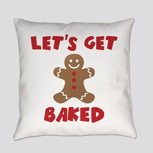 Let's Get Baked Funny Christmas Everyday Pillow