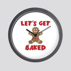 Let's Get Baked Funny Christmas Wall Clock
