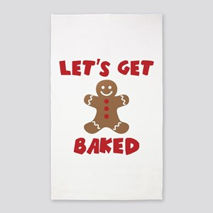 Let's Get Baked Funny Christmas Area Rug