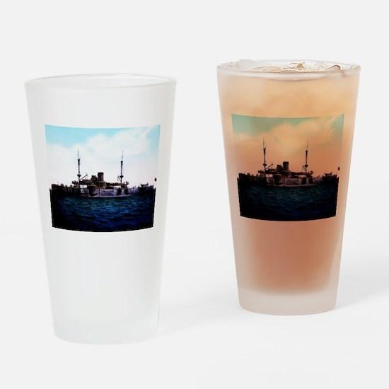 USS Texas Drinking Glass