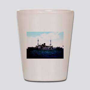 USS Texas Shot Glass