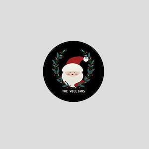 Custom Christmas Family Name Santa Cla Mini Button
