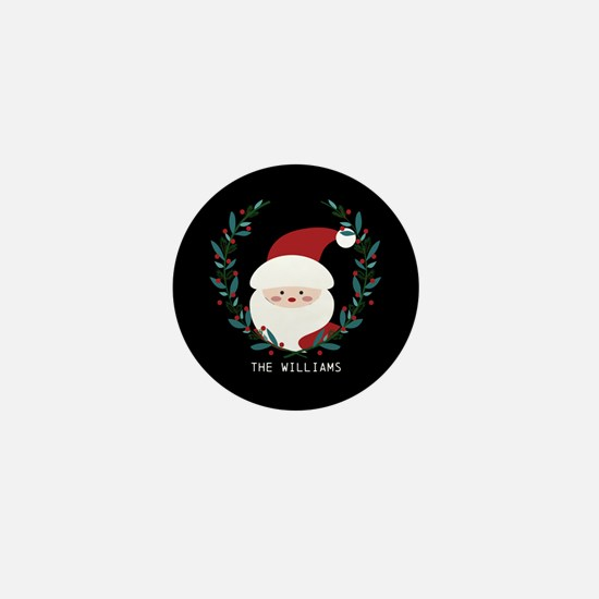 Custom Christmas Family Name Santa Cla Mini Button