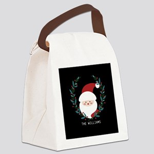 Custom Christmas Family Name Sant Canvas Lunch Bag