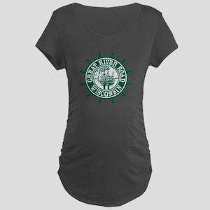 Great River Road Wisconsin Maternity Dark T-Shirt
