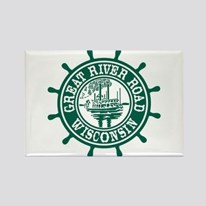 Great River Road Wisconsin Rectangle Magnet