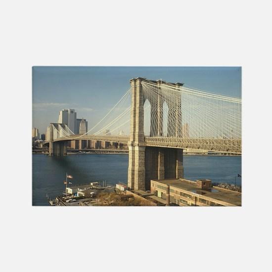 Cute Brooklyn bridge Rectangle Magnet