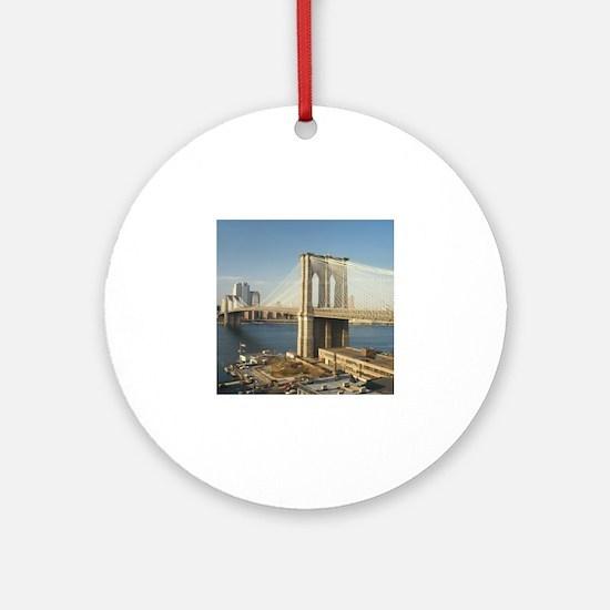 Unique Brooklyn bridge Round Ornament