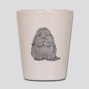 Holland Lop by Karla Hetzler Shot Glass