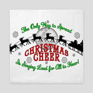 Elf Christmas Cheer 2015 Queen Duvet