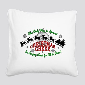 Elf Christmas Cheer 2015 Square Canvas Pillow