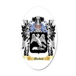 Maiden Oval Car Magnet