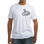 Cheetah Cub pocket style Fitted T-Shirt