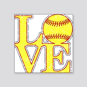 Love Softball Distressed Sticker