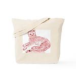 Cheetah Cub Red Sepia Tote Bag