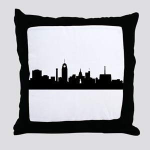 Lansing Cityscape Skyline Throw Pillow