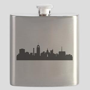 Lansing Cityscape Skyline Flask