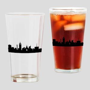 Lansing Cityscape Skyline Drinking Glass