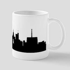 Lansing Cityscape Skyline Mugs