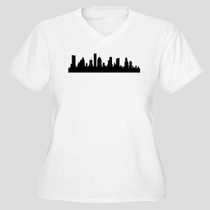 Houston Cityscape Skyline Plus Size T-Shirt