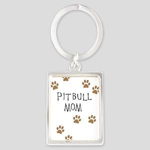 Pitbull Mom Keychains