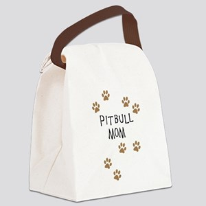 Pitbull Mom Canvas Lunch Bag