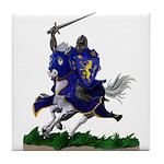 Purple Knight Tile Coaster