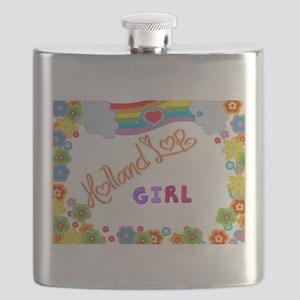 Holland Lop Girl Flask