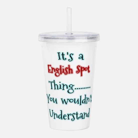 English Spot Thing Acrylic Double-wall Tumbler