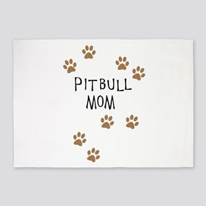 Pitbull Mom 5'x7'Area Rug