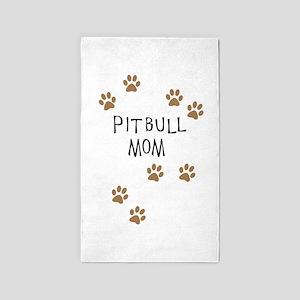 Pitbull Mom Area Rug