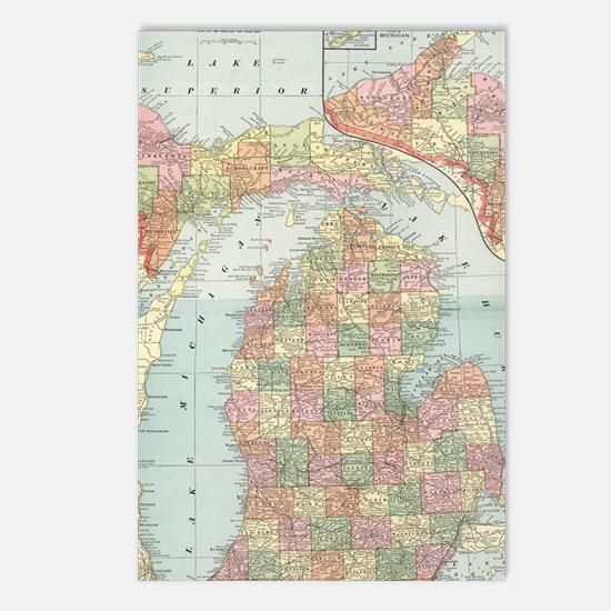 Cute Michigan Postcards (Package of 8)