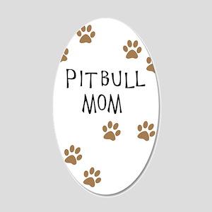 Pitbull Mom Wall Decal