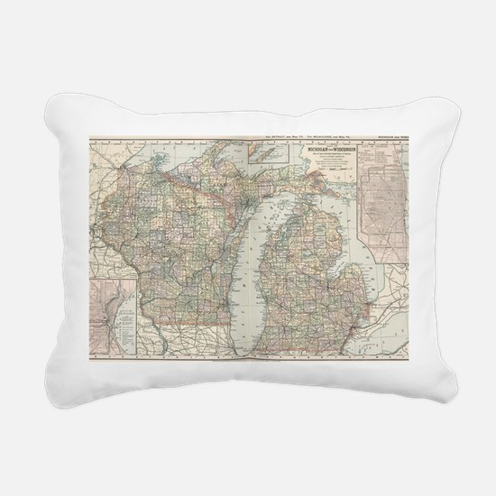 Cool Lakes region Rectangular Canvas Pillow