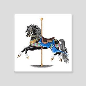 Black Carousel Horse Sticker