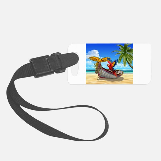 Parrots of the Caribbean Luggage Tag