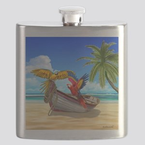 Parrots of the Caribbean Flask