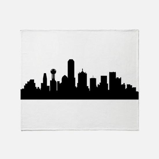 Dallas Cityscape Skyline Throw Blanket